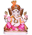 Unique Ganesh Statue from White Marble