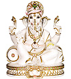Marble god ganesh statues