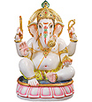 Lord Ganesh Statue from  White Marble