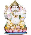 Marble Ganesh with painting work