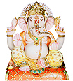 Exclusive Marble Ganesha Stone Statue