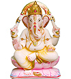 Beautiful Ganesha Statue from White Marble
