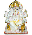 Beautiful Ganesh Statue from White Marble