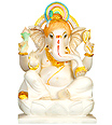 Indian Ganesh Statue from makrana Marble