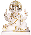 Ganesh Statue from Spotless White Marble