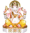 Hand carved Ganesh statue in makrana marble