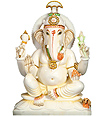 White Marble Ganesh statue from jaipur