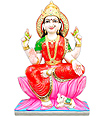 Beautiful Seated Laxmi Statue of Marble