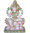 Beautiful Laxmi Statue Seated on lotus flower
