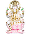 Hand carved marble laxmi Statue for temple