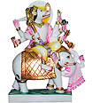 Marble Manibhadra Statue from White Marble