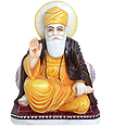 Guru Nanak Statue from Spotless White Marble