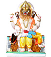 Marble Narsingh Statue  from White Marble