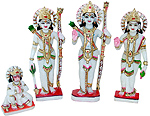 Ram Darbar Statue from Spotless White Marble