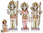 Exquisite Ram Darbar Statue from marble
