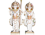 Beautiful Ram Sita Statue from makrana Marble