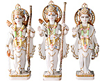 Marble Ram darbar Statue for temple