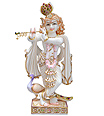 Lord krishna statue in white marble