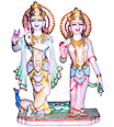 Exquisite Radha Krishna Statue from marble