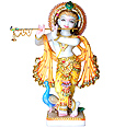 Beautiful Krishna Statue from White Marble