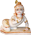 Marble Ladoo gopal statue from marble statue