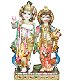 Beautiful Lord Radha Krishna carved in marble