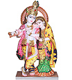 Beautiful Marble Radha Krishna With painting