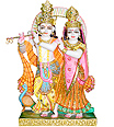 Exquisite Radha Krishna from White Marble