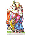 Beautiful Radha Krishna Murthi From Marble