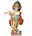 Krishna Statue from Spotless White Marble