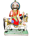 Marble Ramdev Baba Statue from White Marble