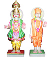Swami Narayan Statue from White Marble