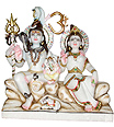 Shiv Parivar from White makrana Marble