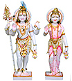 Shankar and parvati Statue from marble