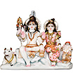 Beautiful lord shankar parivar from Marble