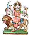 Beautiful Goddess Durga from White Marble