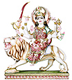 Beautiful Goddess Durga Statue from Marble