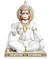 Marble Hanuman ji Statue in Seated Posture