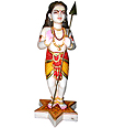 Marble Murugan Statue from White Marble