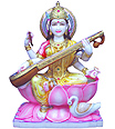 Beautiful Saraswati statue carved from marble