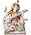 Saraswati Statue Carved out in Marble
