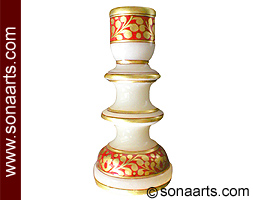 Decorative Candle Stand with hand painting