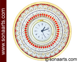 Round Clock from Spotless White Marble