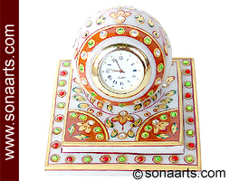 Marble Gifting clock from Spotless White Marble