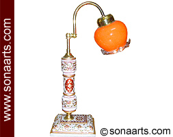 Marble Standing lamps with painting work