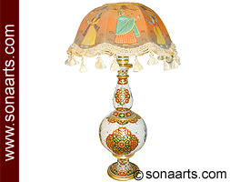 Marble lamps from makrana marble Statue