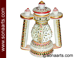 Marble Lantern using kundan painting work