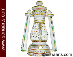 Decorative lantern with emboss painting work