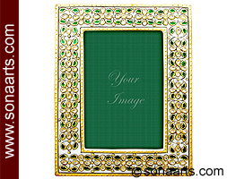 Picture frame with emboss meenakari painting