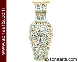 Marble flower Pot with hand painting